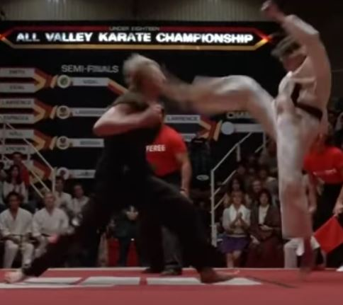 Screenshot from the Karate Kid